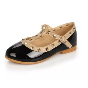 Other - Black Studded Mary Janes